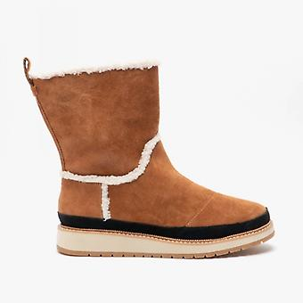 TOMS Makenna Dames Suede Boots Brown