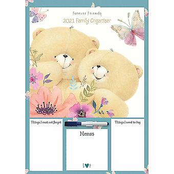 Otter House 2021 A3 Calendar-forever Friends Family Organiser