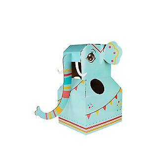 Children's Carton Toy Paper Animal Can Wear Interaction Enhance Relationship Toy