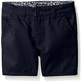 U.S. Polo Assn. Big Girls' Twill Short (More Styles Available), Navy-AHEJ, 12