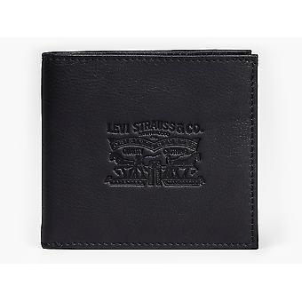 Levi's Vintage dos caballos Bi Fold cuero cartera negro 11