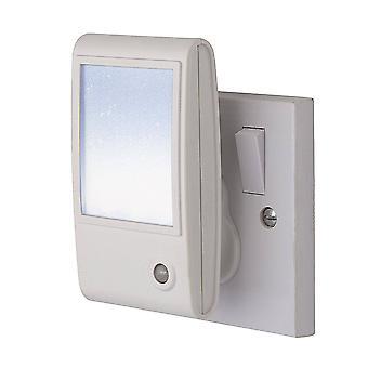 Firstlight - LED 1 Light Sparkle Night Light White, Wit