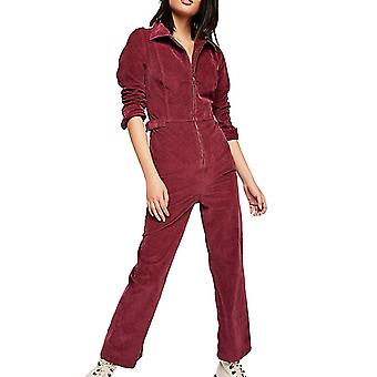 Free People | Belted Long-Sleeve Jumpsuit