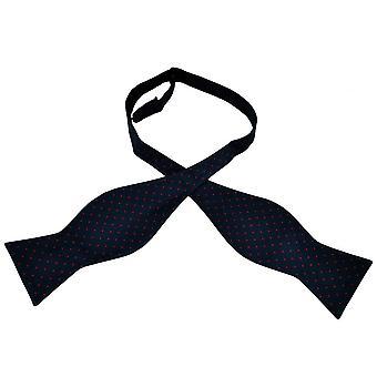 Krawatten Planet Gold Label Marine blau & rot Polka Dot gedruckt Seide Männer's selbst Krawatte Fliege