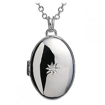 Hete diamanten erfenis zilveren Medaillon hanger DP143
