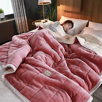 mmermind Fleece Decken und wirft Erwachsene dick warm Winter Decken Home Super weiche Bettdecke Luxus solide Decken auf zwei Bettwäsche