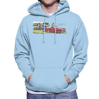 Austin Healey Sprite Mk II Race Day British Motor Heritage Men's Hooded Sweatshirt