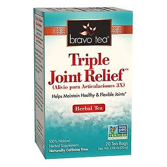 Bravo Tea & Herbs Triple Joint Relief Tea, 20 Bags