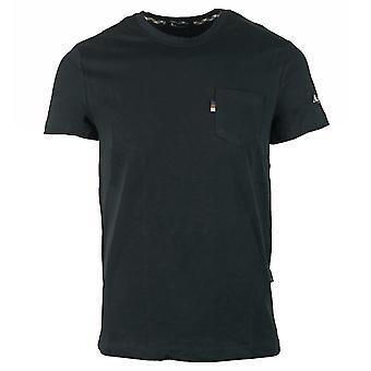 Aquascutum Hiha Logo Musta T-paita