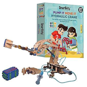 smartivity pump it move it hydraulic crane eco-friendly construction set