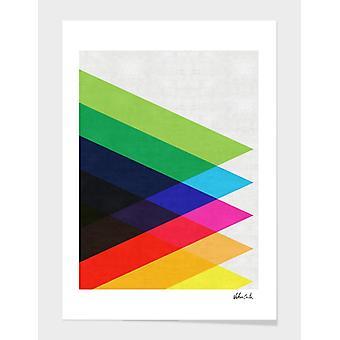 Värikkäiden kolmioiden kehys