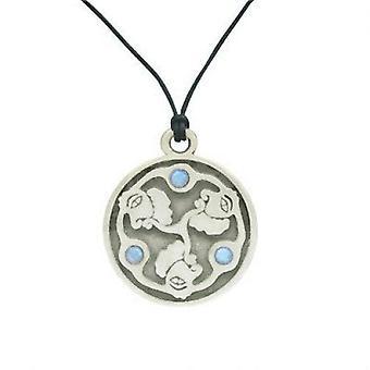 Mitsu domo pendant with blue cz gems