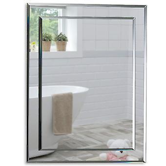 Rectangular Wall Mirror 50 x 40cm & Demister