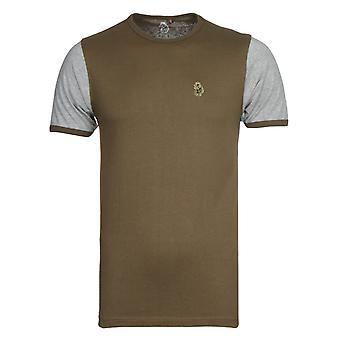 Luukas 1977 Khaki Ringer T-paita