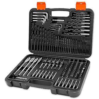 Terratek Drill Bit Set 150pc & Carry Case, Screwdriver Bits, HSS Drill Bits