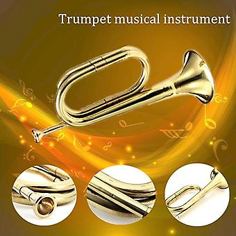 Trumpet Bugle Cavalry Horn With Mouthpiece For School Band, Practice Beginner