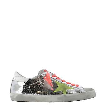 Golden Goose Gmf00101f00034280304 Men's Silver Leather Sneakers
