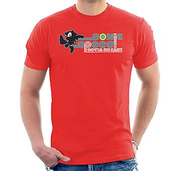 Sonic The Hedgehog Speed Gotta Go Fast Men's T-Shirt
