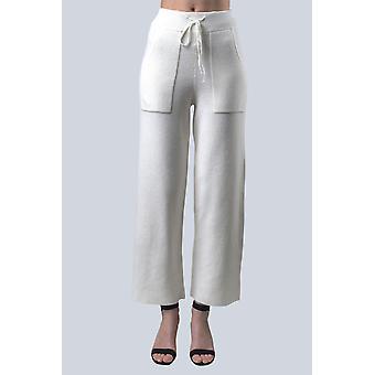 Sam-rone Women's White Pants