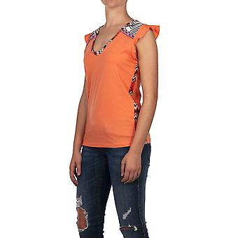 Custo Barcelona Women T-shirt Tuku Coral Multicolor