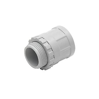 Plain To Screw Adaptor With Lock Ring Grey