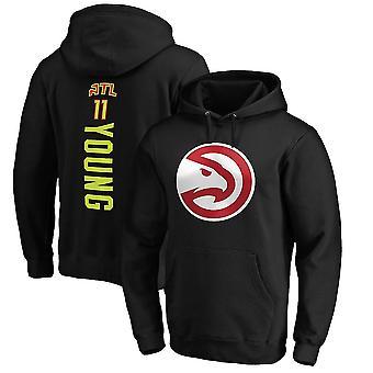 Atlanta Hawks 11 Unge Loose Pullover Hoodie Sweatshirt WY157