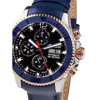 Mens Watch Ingersoll IN1105BL, Automaat, 45mm, 10ATM