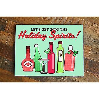Funny Alcohol Christmas Card