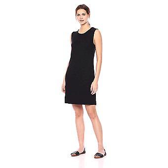 Tägliche Ritual Frauen's gemütliche stricken Muskel Ärmel Kleid, schwarz, Medium