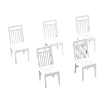 Chaise 5pcs Dollhouse Mini Furniture Chair Living Room Dining Chair for DIY