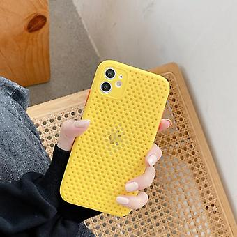 Pu Plain Color Heat Dissipation Breathable Cooling Case For Iphone
