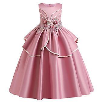 Dívka Krajka Okvětní lístky Přijímání Narozeniny Dlouhé Banket Průvod šaty na svatbu