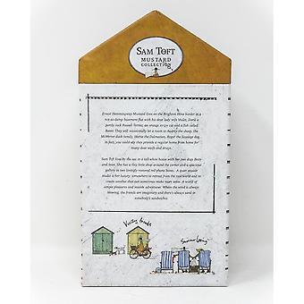 Sam Toft Mustard Fine China Mug Set (Pack of 2)