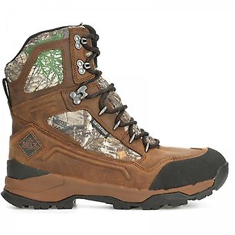 """Muck Boots Summit 10"""" Mens Leather Waterproof Boots Brown"""