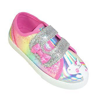 Unge jenter regnbue glitter og Unicorn trenere
