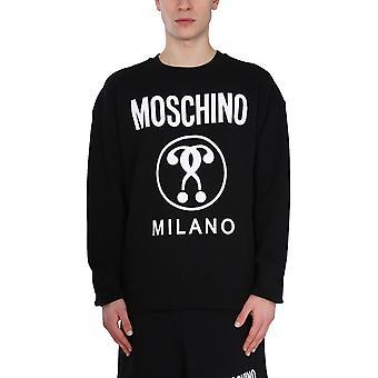 Moschino 170420271555 Men's Zwart Katoen Sweatshirt