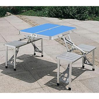 Portable Aluminum Alloy Folding Multifunctional Table Set