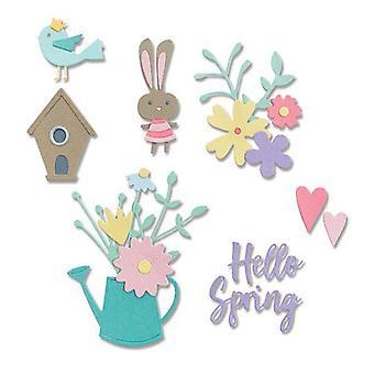 Sizzix Thinlits Die Set - 16pk Hello Spring 665091 Olivia Rose
