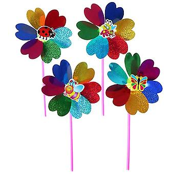 One Piece Colorful Sequins Windmill Wind Spinner Home Garden Yard Decoration