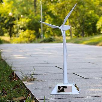 Environmental Plastic Model-solar Powered Windmill Wind Turbine Desktop Science