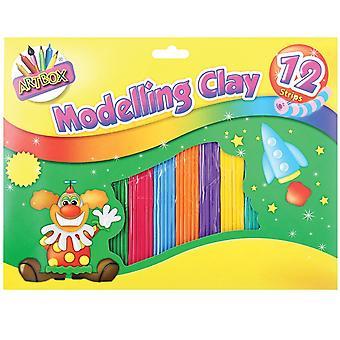 ArtBox النمذجة الملونة كلاي (12 شرائط)