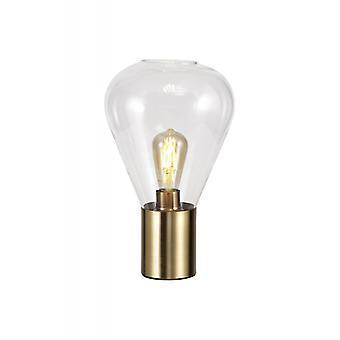 Lámpara De Mesa De Diseño Oblend 1 Bombilla Latón Viejo 29,5 Cm