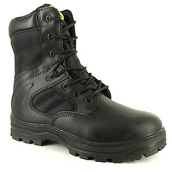 New Mens/Gents/Unisex Black Tradesafe Drill Steel Toe Cap Safety Boots UK Size