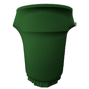Couverture De Spandex de la linge équipée pour la poubelle de 55 gallons sur roues, vert émeraude