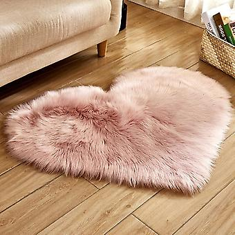Love Heart Plush Blanket Faux Fur Imitation Wool Rug - Floor Area Mat