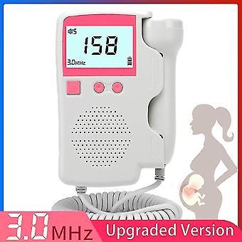 3,0 mhz Doppler føtal, hjertefrekvensmåler - Graviditet Baby føtal lyd, Hjerte