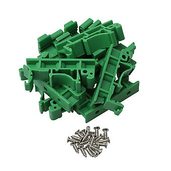 10 Pieces PCB DIN Rail Mounting Adapter Circuit Board Mounting Bracket