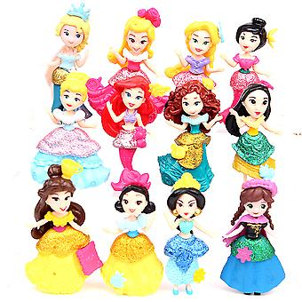 12pcs Figure Set Anna Elsa Toy Doll Anime Collection