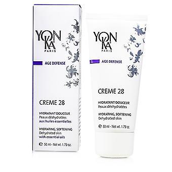 Yonka Age Defense Creme 28 With Essential Oils - Hydrating, Softening (Dehydrated Skin) 50ml/1.79oz
