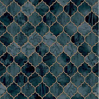 Tegula Teal Copper Wallpaper